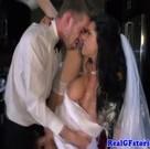 imagen Polvazo de dos recién casados