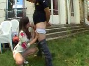 imagen Morena mamando rabo