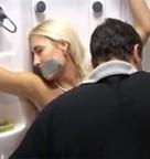 imagen Rubia forzada en la ducha