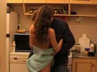 imagen Follando con papá en la cocina