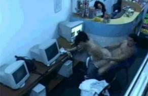 imagen Sexo caliente en un ciber café