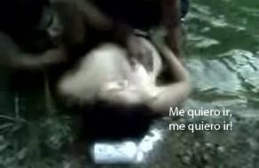 imagen Morrita borracha violada por diferentes hombres en el río