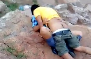 imagen Adolescentes pillados cogiendo por el guarda parques