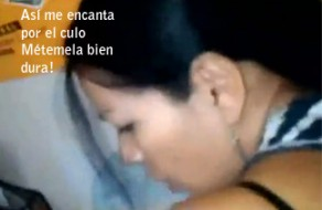 imagen Puta mexicana cogiendo duro por el culo