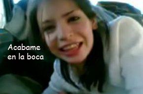 imagen Jovencita adolescente mamando rabo en el coche