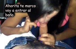 imagen Chupadora infiel miente a su novio por teléfono