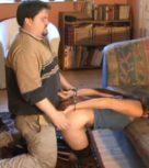 imagen Gordo esposa y viola a su hija