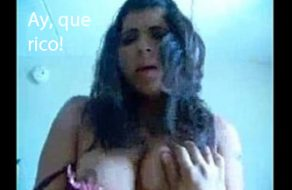 imagen Madurita peruana disfrutando como una perra en celo