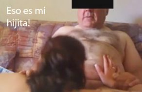 imagen Incesto real: hija le chupa la verga al viejo de su padre