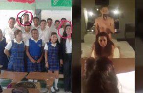 imagen Maestra Yolanda Palacios Gonzalez chingando con su alumno