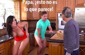 imagen Madre e hijo pillados practicando incesto en la cocina