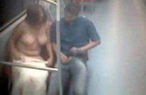 imagen Sexo en el metro grabado por las cámaras de seguridad
