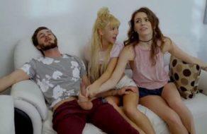 imagen Novia ninfómana consigue hacer un trío incestuoso con dos hermanos