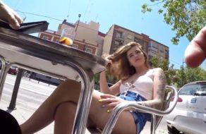 imagen Pelirroja española follada en el probador de una tienda de ropa
