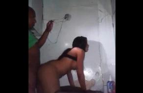 imagen Colombiana infiel grabada cogiendo con el vecino