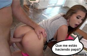 imagen Putita seduce a su padre porque tiene el coño mojado (incesto)