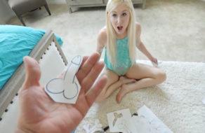 imagen Pilla a su hermana pequeña dibujando vergas erectas (incesto)